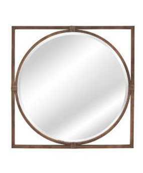 Bassett Mirror Belgian Modern 36 x 36 Bronze Sadie Wall Mirror BAM3645BEC