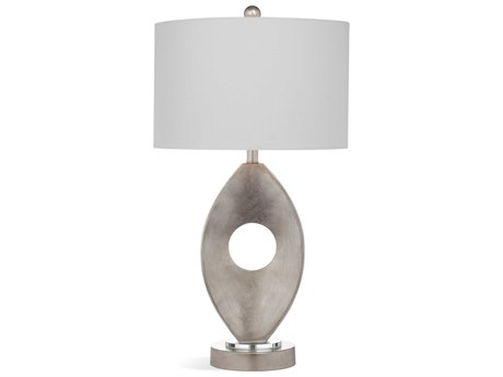 Bassett Mirror Bricolage Silver Leaf Buffet Lamp BAL3446T