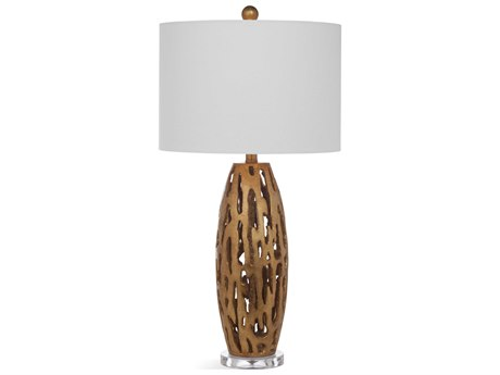 Bassett Mirror Bricolage Gold Leaf Buffet Lamp BAL3448T