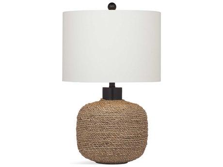 Bassett Mirror Bricolage Jute Rope / Black Buffet Lamp BAL3543T