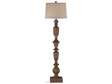 Bassett Mirror Bricolage Wood Tone Floor Lamp BAL3515F