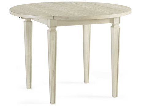 Bassett Mirror Camryn Rustic White 42'' Wide Round Dining Table BA1152DR706