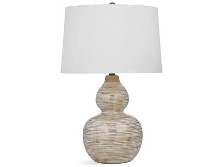 Bassett Mirror Ceramic White / Gold Buffet Lamp BAL3442T