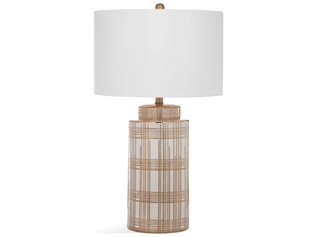 Bassett Mirror Ceramic Gold / White Buffet Lamp BAL3450T