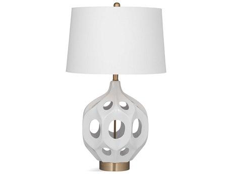 Bassett Mirror Ceramic White Buffet Lamp BAL3455T