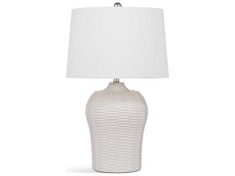 Bassett Mirror Ceramic White Buffet Lamp BAL3458T