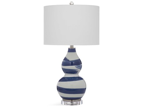 Bassett Mirror Ceramic Blue / White Buffet Lamp BAL3476T