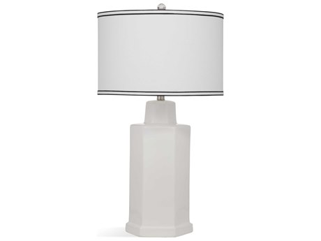 Bassett Mirror Ceramic White Buffet Lamp BAL3477T