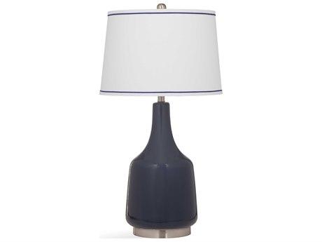 Bassett Mirror Ceramic Dark Blue Buffet Lamp