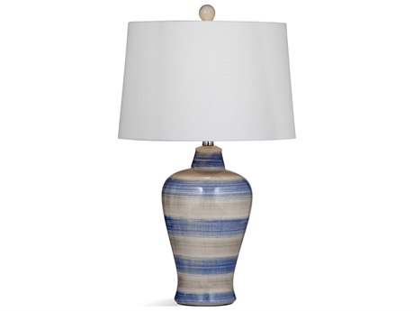 Bassett Mirror Ceramic Light Blue / Gray Buffet Lamp BAL3536T