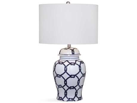Bassett Mirror Ceramic Blue / White Buffet Lamp BAL3547T