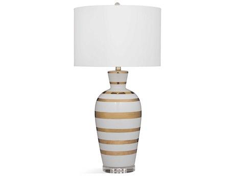 Bassett Mirror Ceramic White / Gold Buffet Lamp BAL3554T