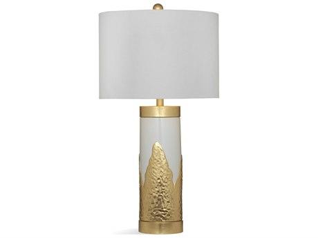 Bassett Mirror Ceramic White / Gold Leaf Buffet Lamp BAL3560T