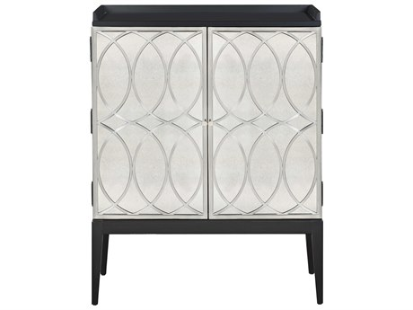Bassett Mirror Deandra Black / Clear Accent Chest BAA2321EC