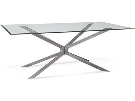 Bassett Mirror Deen Gunmetal 84'' Wide Rectangular Dining Table BA5510DR600B