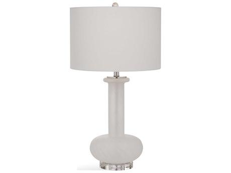 Bassett Mirror Glass Frosted White Buffet Lamp BAL3452T