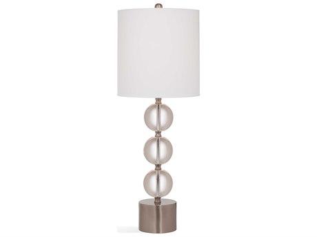 Bassett Mirror Glass Crystal / Brushed Nickel Buffet Lamp BAL3487T