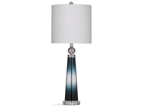 Bassett Mirror Glass Blue Buffet Lamp BAL3565T