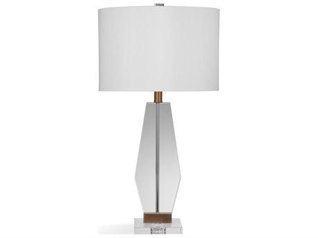 Bassett Mirror Glass Clear Crystal Buffet Lamp BAL3732T