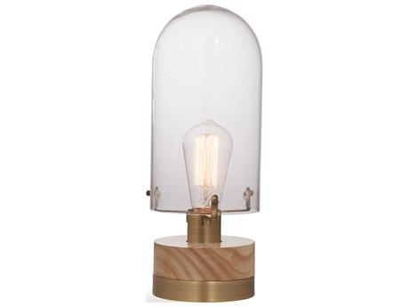 Bassett Mirror Glass Brass / Wood Table Lamp BAL3481T