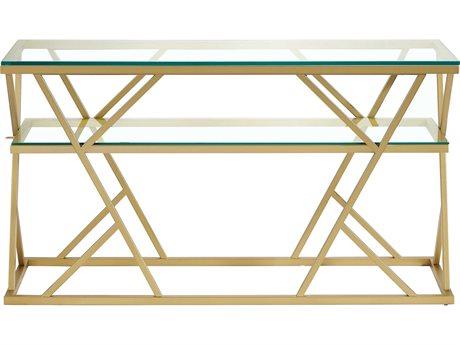 Bassett Mirror Gravatt Lux Gold 54'' Wide Rectangular Console Table