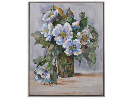 Bassett Mirror Hollywood Glam Elegant Flowers Painting