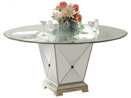 Bassett Mirror Hollywood Glam Borghese Dining Pedestal Table BA8311601906EC