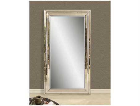 Bassett Mirror Hollywood Glam 46 x 82 Antique Mirror Rosinna Leaner BAM2731BEC