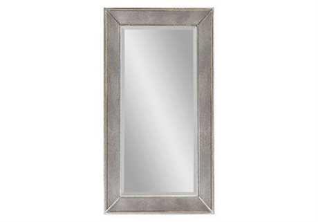 Bassett Mirror Hollywood Glam 36 x 48 Silver Leaf Beaded Wall Mirror BAM1946BEC