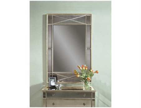 Bassett Mirror Hollywood Glam 40 x 60 Silver Leaf Campagna Wall Mirror BAM2180BEC