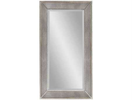 Bassett Mirror Hollywood Glam 26 x 48 Antique Bronze Beaded Wall Mirror