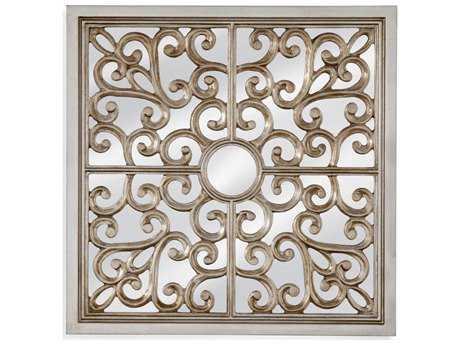 Bassett Mirror Hollywood Glam Marilyn 24'' Silver Leaf Wall Mirror BAM4004EC