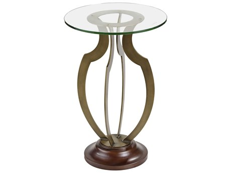 Bassett Mirror Krier Antique Brass 16'' Wide Round End Table BAA2380EC