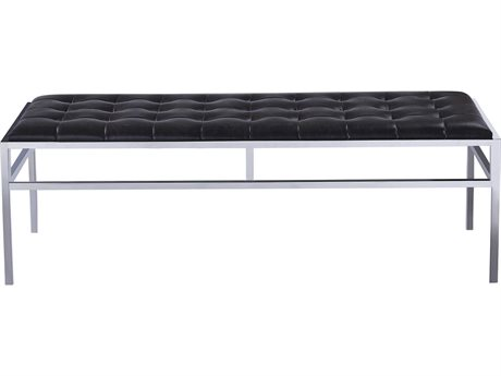 Bassett Mirror Medine Chrome Accent Bench BA3356LR100
