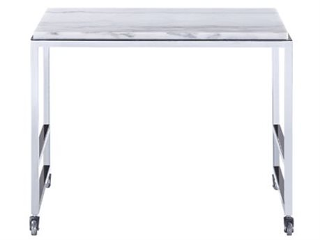 Bassett Mirror Medine Chrome 20'' Wide Rectangular End Table BA3356LR102