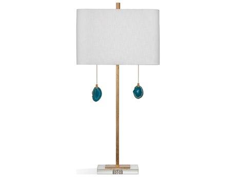 Bassett Mirror Metal Blue Agate / Gold Leaf Buffet Lamp BAL3648T