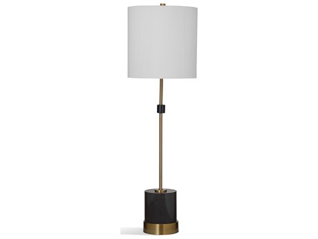 Bassett Mirror Metal Black Marble / Brass Buffet Lamp BAL3693T