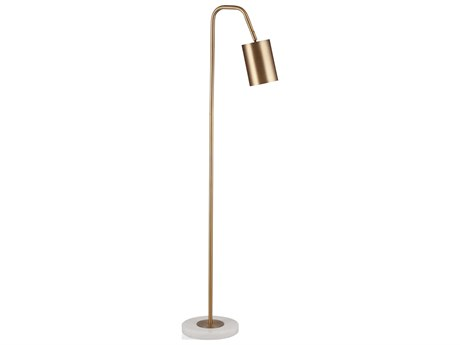 Bassett Mirror Metal Brass / Marble Floor Lamp BAL3539F