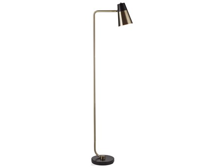 Bassett Mirror Metal Black / Antique Brass Floor Lamp