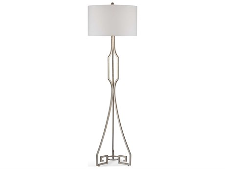 Bassett Mirror Metal Silver Leaf Floor Lamp BAL3551F