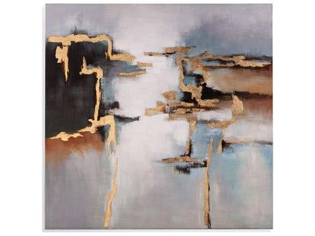 Bassett Mirror Modern Metallics Canvas Wall Art