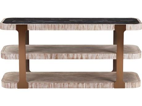 Bassett Mirror Obel Weathered Oak 64'' Wide Rectangular Console Table BA3282LR400