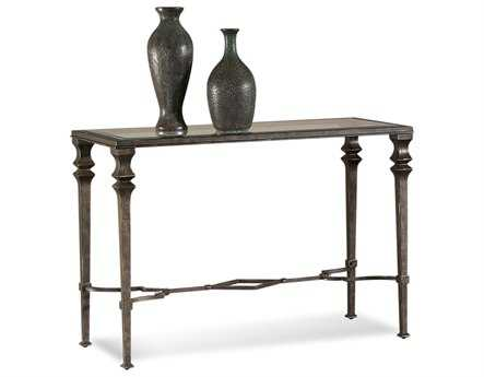 Bassett Mirror Old World 20 x 48 Rectangular Burnished Bronze Lido Console Table BAT1210400EC