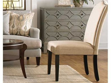 Bassett Mirror Old World Camelback Nailhead Parsons Dining Chair (Sold in 2)