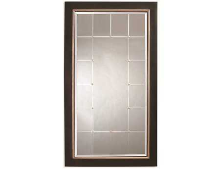 Bassett Mirror Old World 46 x 82 Black & Silver Fiona Leaner Mirror