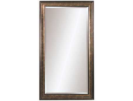 Bassett Mirror Old World 45 x 81 Gold Leaf with Brown Glaze Beckett Leaner Mirror