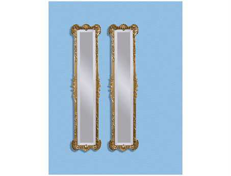 Bassett Mirror Old World 12 x 50 Gold Leaf Helena 2 Panel Mirrors BAM2258BEC