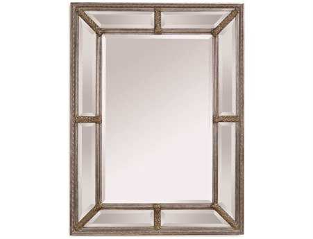 Bassett Mirror Old World 37 x 49 Antique Silver Leaf Roma Wall Mirror
