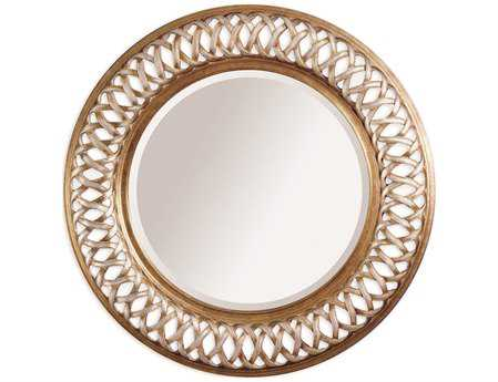 Bassett Mirror Old World 45 Champagne Leaf Alissa Wall Mirror