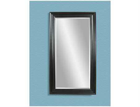 Bassett Mirror Old World 42 x 80 Ebony Kingston Leaner Mirror BAM1768BEC